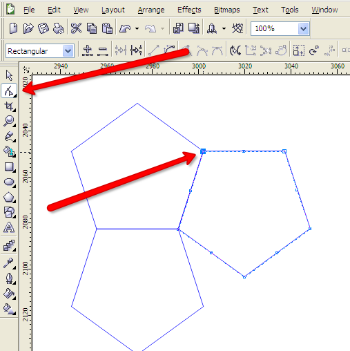 Corel Draw nodo