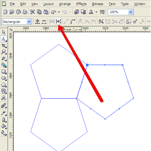 Corel Draw curve