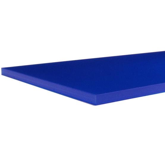 Bordi tagliati - Plexiglass blu oltremare opalino per il taglio laser