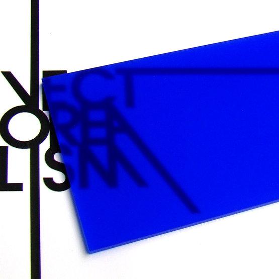 Superficie - plexiglass blu oltremare opalino per il taglio laser