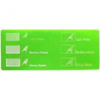 Esempio incisione - Plexiglass verde chiaro per il taglio laser