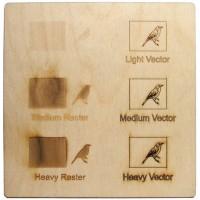 Esempio incisione - compensato di betulla per il taglio laser