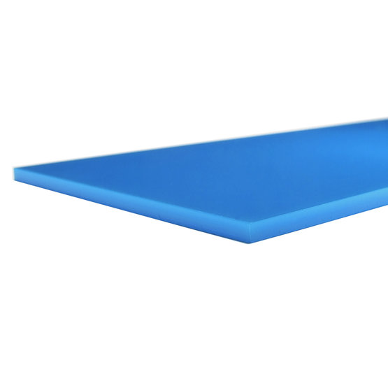 Cut edges - Light blue Plexiglass for laser cutting