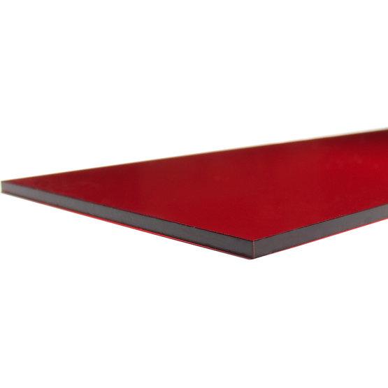 Bordi tagliati - Plexiglass rosso trasparente per il taglio laser