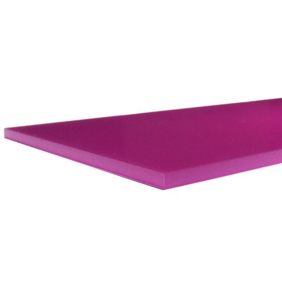 Bordi tagliati - Plexiglass ciclamino diffusore per il taglio laser