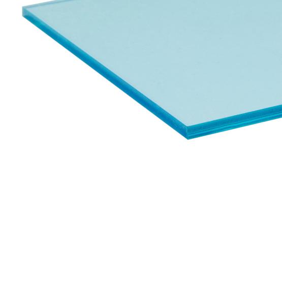 Bordi tagliati - Plexiglass celeste trasparente per il taglio laser