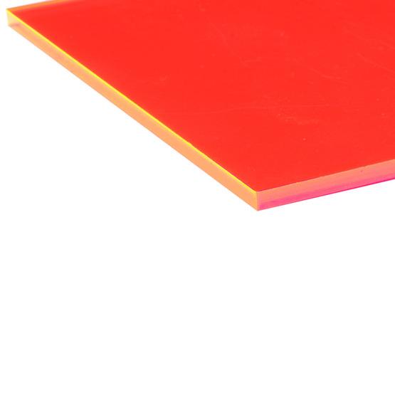 Bordi tagliati - Plexiglass rosso fluo per il taglio laser