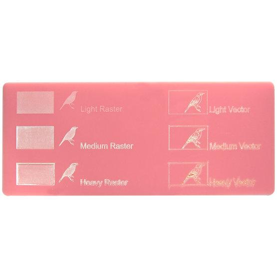 Exemple de gravure - Plexiglass rose pour découpe au laser