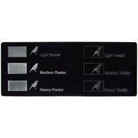 Esempio incisione - Plexiglass nero per il taglio laser