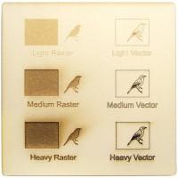 Esempio incisione - cartone vegetale per il taglio laser