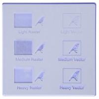 Esempio incisione - Plexiglass azzurro fluo per il taglio laser