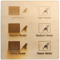 Esempio incisione - compensato di pioppo per il taglio laser