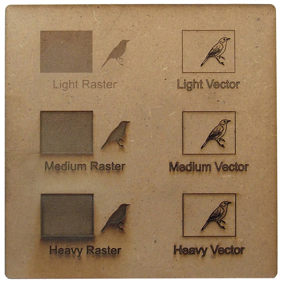 Engraving example - MDF for laser cutting
