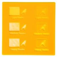 Esempio incisione - Plexiglass giallo ambra fluo per il taglio laser