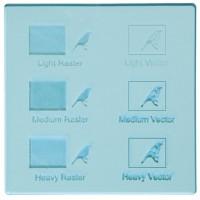 Esempio incisione - Plexiglass celeste trasparente per il taglio laser