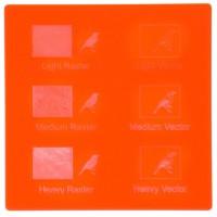Esempio incisione - Plexiglass rosso fluo per il taglio laser
