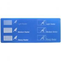 Esempio incisione - Plexiglass celeste per il taglio laser