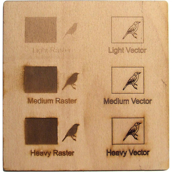 Example engraving - beech plywood for laser cutting