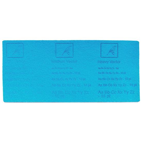 Exemple de gravure - feutre bleu clair pour la découpe au laser