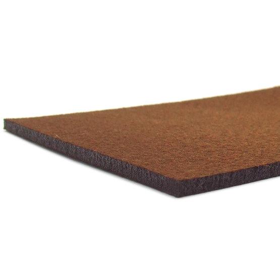 Bords coupés - feutre brun pour la découpe au laser