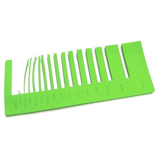 Test precisione - feltro verde chiaro per il taglio laser
