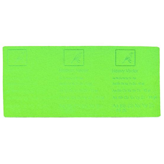 Exemple de gravure - feutre vert clair pour la découpe au laser