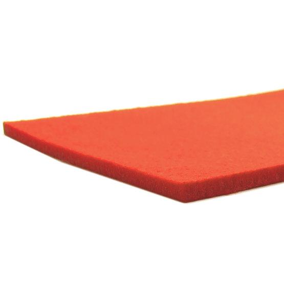 Cut edges - orange felt for laser cutting