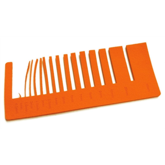 Precision test - orange felt for laser cutting