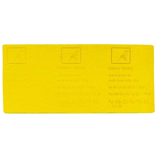 Exemple de gravure - feutre jaune pour découpe au laser