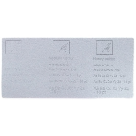 Exemple de gravure - feutre gris clair pour la découpe au laser