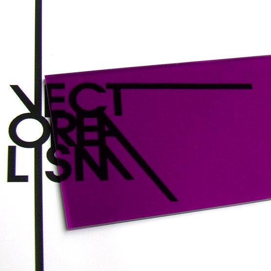 Superficie - plexiglass viola trasparente per il taglio laser