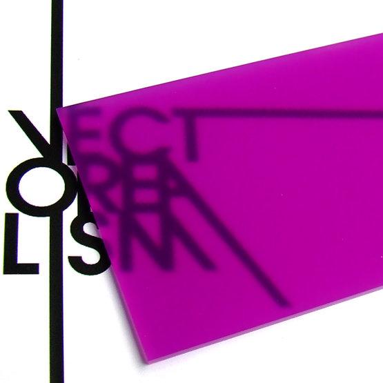 Superficie - plexiglass ciclamino diffusore per il taglio laser