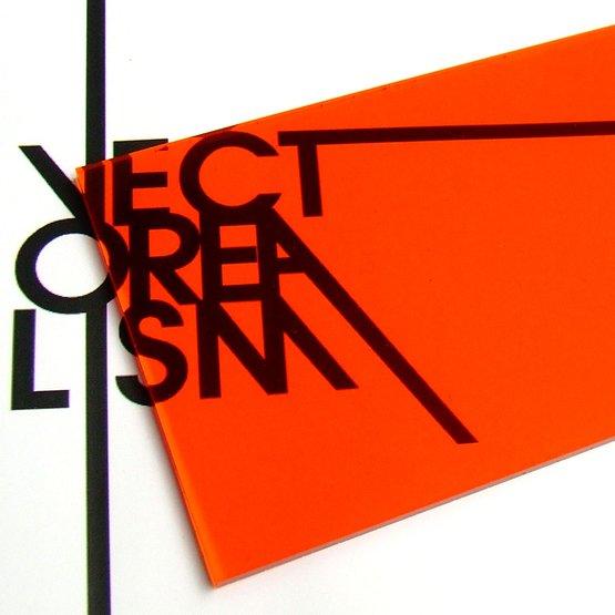 Surface - plexiglas orange transparent pour découpe au laser