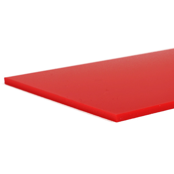 Cut edges - Red strawberry Plexiglass for laser cutting