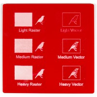 Esempio incisione - Plexiglass rosso fragola per il taglio laser