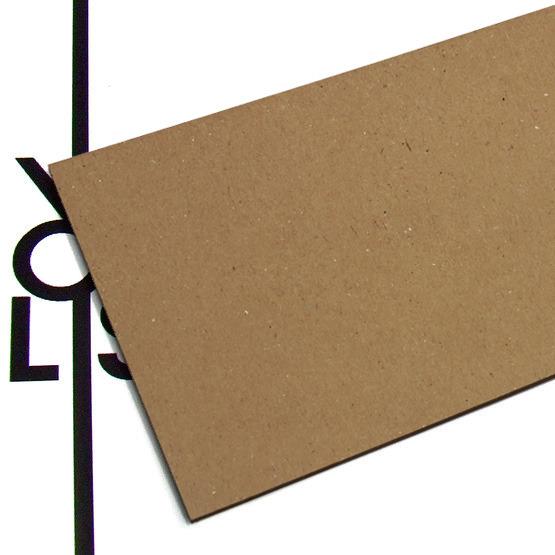 Superficie - cartone microonda avana per il taglio laser
