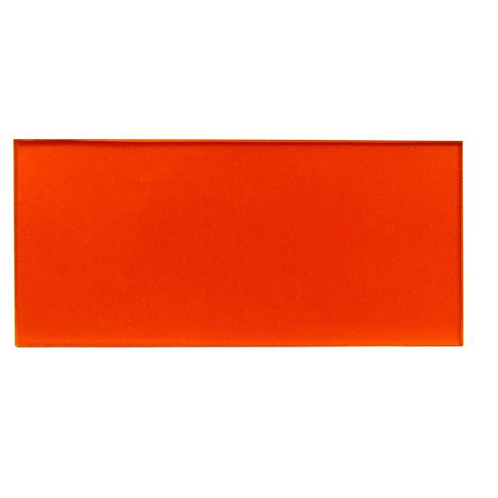 Sample - transparent orange plexiglass for laser cutting