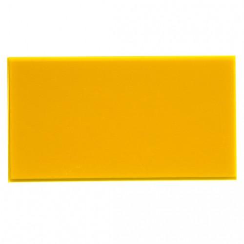 Campione - plexiglass giallo ambra fluo per il taglio laser