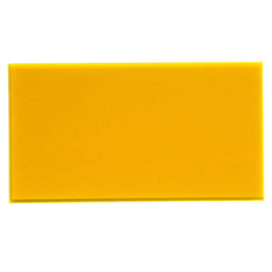 Sample - amber fluo yellow plexiglass for laser cutting