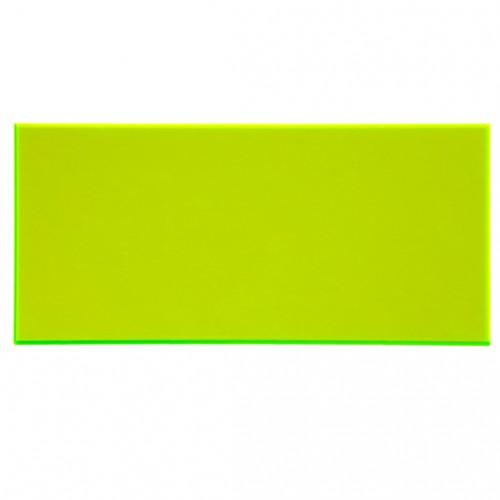 Campione - plexiglass giallo evidenziatore fluo per il taglio laser
