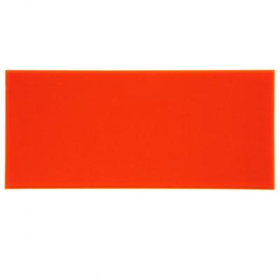 Campione - plexiglass rosso fluo per il taglio laser