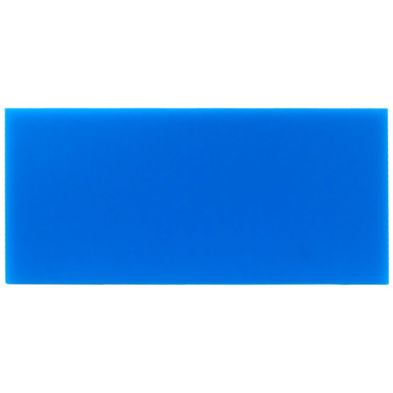 Sample - light blue plexiglass for laser cutting