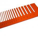 Test precisione- plexiglass arancione trasparente per il taglio laser