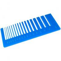 Test precisione- plexiglass celeste per il taglio laser