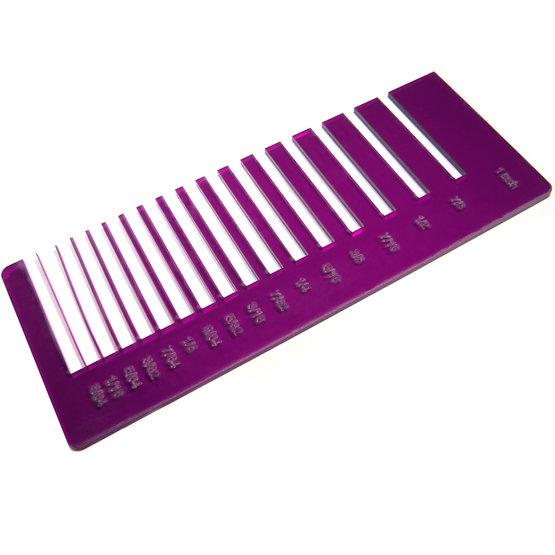 Test precisione- plexiglass viola trasparente per il taglio laser