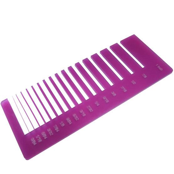 Test precisione- plexiglass ciclamino diffusore per il taglio laser