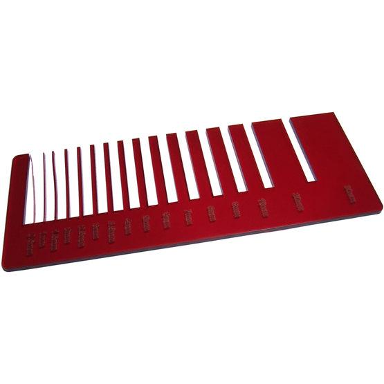 Plexiglass rosso trasparente per il taglio laser - test precisione