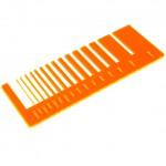 Test precisione- plexiglass arancione fluo per il taglio laser