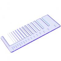 Test precisione- plexiglass azzurro fluo per il taglio laser