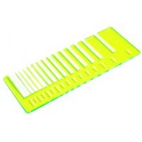 Test precisione- plexiglass giallo evidenziatore fluo per il taglio laser